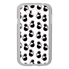 Cat Seamless Animal Pattern Samsung Galaxy Grand Duos I9082 Case (white)