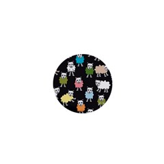 Sheep Cartoon Colorful 1  Mini Buttons