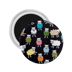 Sheep Cartoon Colorful 2 25  Magnets