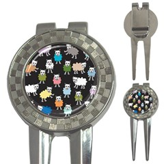 Sheep Cartoon Colorful 3 In 1 Golf Divots