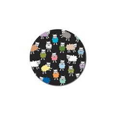 Sheep Cartoon Colorful Golf Ball Marker (10 Pack)