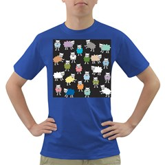 Sheep Cartoon Colorful Dark T Shirt