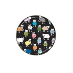 Sheep Cartoon Colorful Hat Clip Ball Marker (4 Pack)