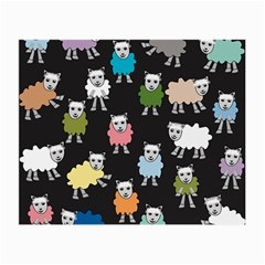 Sheep Cartoon Colorful Small Glasses Cloth