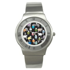 Sheep Cartoon Colorful Stainless Steel Watch