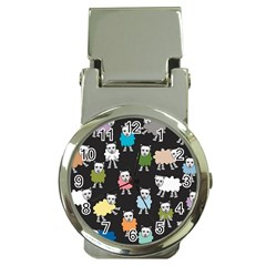 Sheep Cartoon Colorful Money Clip Watches