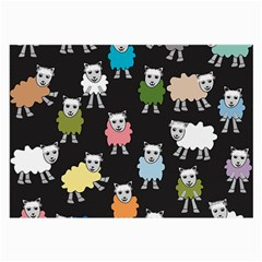 Sheep Cartoon Colorful Large Glasses Cloth (2 Side)