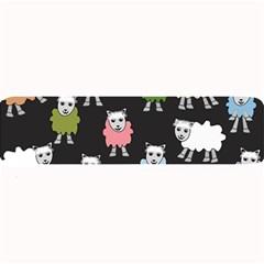 Sheep Cartoon Colorful Large Bar Mats