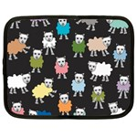 Sheep Cartoon Colorful Netbook Case (Large) Front