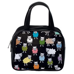 Sheep Cartoon Colorful Classic Handbags (one Side)