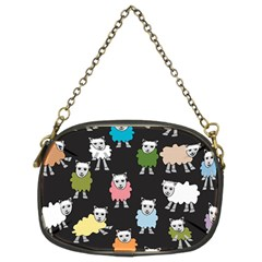 Sheep Cartoon Colorful Chain Purses (two Sides)