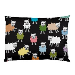 Sheep Cartoon Colorful Pillow Case (two Sides)