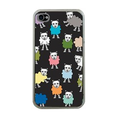 Sheep Cartoon Colorful Apple Iphone 4 Case (clear)