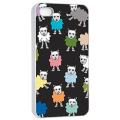Sheep Cartoon Colorful Apple Iphone 4/4s Seamless Case (white)