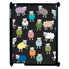 Sheep Cartoon Colorful Apple Ipad 2 Case (black)