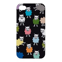 Sheep Cartoon Colorful Apple iPhone 4/4S Hardshell Case