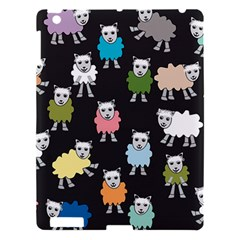 Sheep Cartoon Colorful Apple Ipad 3/4 Hardshell Case