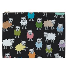 Sheep Cartoon Colorful Cosmetic Bag (xxl)