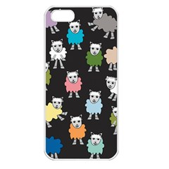 Sheep Cartoon Colorful Apple Iphone 5 Seamless Case (white)