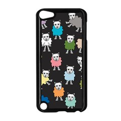 Sheep Cartoon Colorful Apple Ipod Touch 5 Case (black)