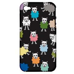Sheep Cartoon Colorful Apple Iphone 4/4s Hardshell Case (pc+silicone)