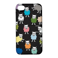 Sheep Cartoon Colorful Apple Iphone 4/4s Hardshell Case With Stand