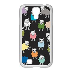 Sheep Cartoon Colorful Samsung Galaxy S4 I9500/ I9505 Case (white)