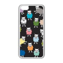 Sheep Cartoon Colorful Apple Iphone 5c Seamless Case (white)