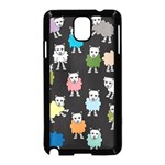 Sheep Cartoon Colorful Samsung Galaxy Note 3 Neo Hardshell Case (Black) Front
