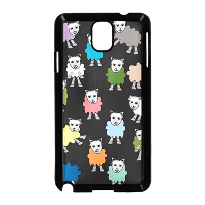 Sheep Cartoon Colorful Samsung Galaxy Note 3 Neo Hardshell Case (Black)