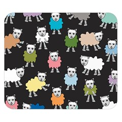 Sheep Cartoon Colorful Double Sided Flano Blanket (Small)