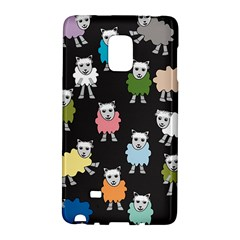Sheep Cartoon Colorful Galaxy Note Edge
