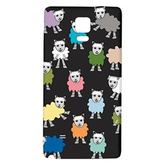 Sheep Cartoon Colorful Galaxy Note 4 Back Case