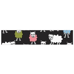 Sheep Cartoon Colorful Flano Scarf (Small)