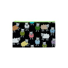 Sheep Cartoon Colorful Cosmetic Bag (XS)