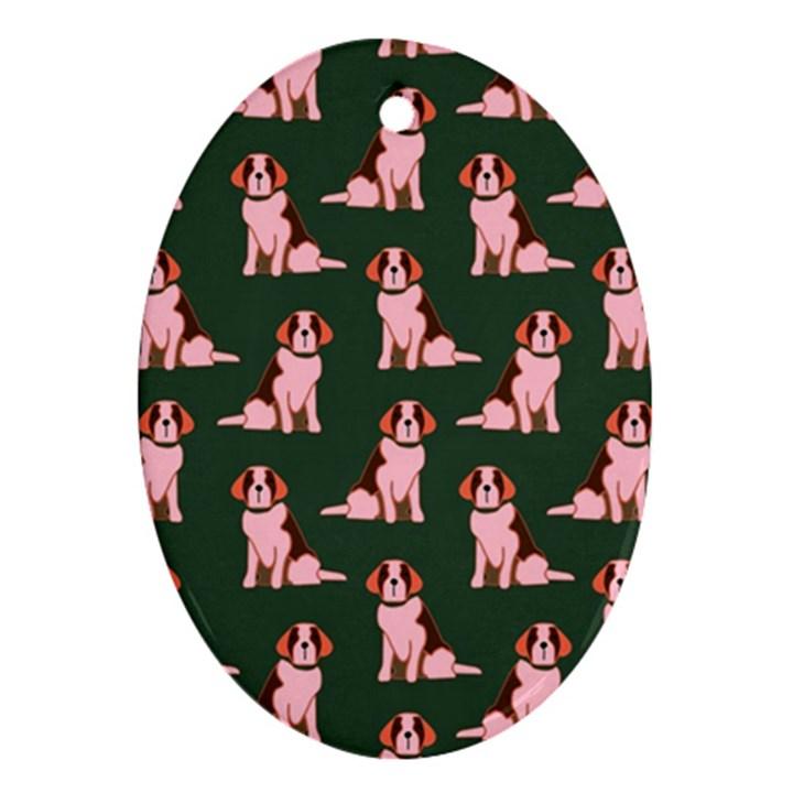 Dog Animal Pattern Ornament (Oval)