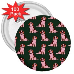 Dog Animal Pattern 3  Buttons (100 Pack)