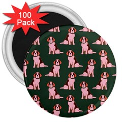 Dog Animal Pattern 3  Magnets (100 pack)