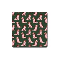Dog Animal Pattern Square Magnet