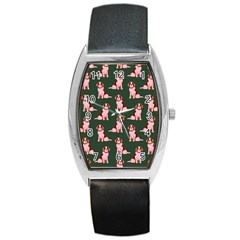 Dog Animal Pattern Barrel Style Metal Watch