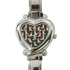 Dog Animal Pattern Heart Italian Charm Watch