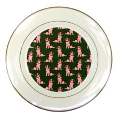 Dog Animal Pattern Porcelain Plates