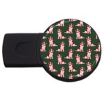 Dog Animal Pattern USB Flash Drive Round (4 GB) Front