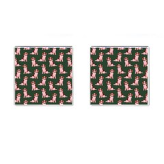 Dog Animal Pattern Cufflinks (square)