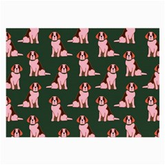 Dog Animal Pattern Large Glasses Cloth