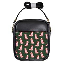 Dog Animal Pattern Girls Sling Bags
