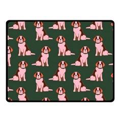 Dog Animal Pattern Fleece Blanket (small)