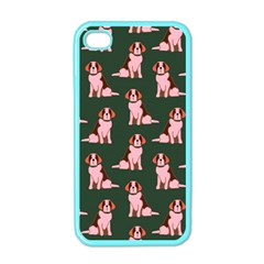 Dog Animal Pattern Apple Iphone 4 Case (color)
