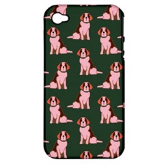 Dog Animal Pattern Apple Iphone 4/4s Hardshell Case (pc+silicone)