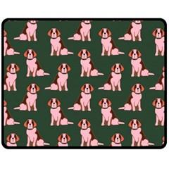 Dog Animal Pattern Double Sided Fleece Blanket (medium)